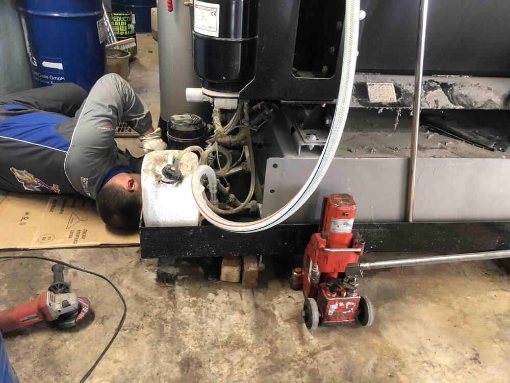 Preinstallazione macchinari industriali