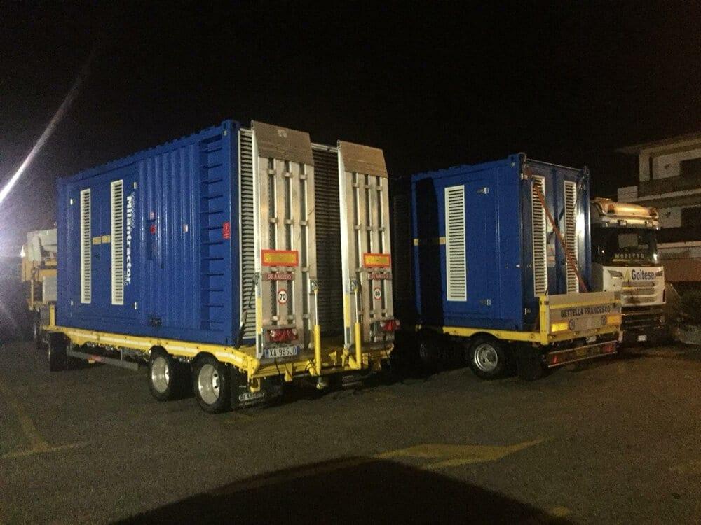 autotreno per trasporto container