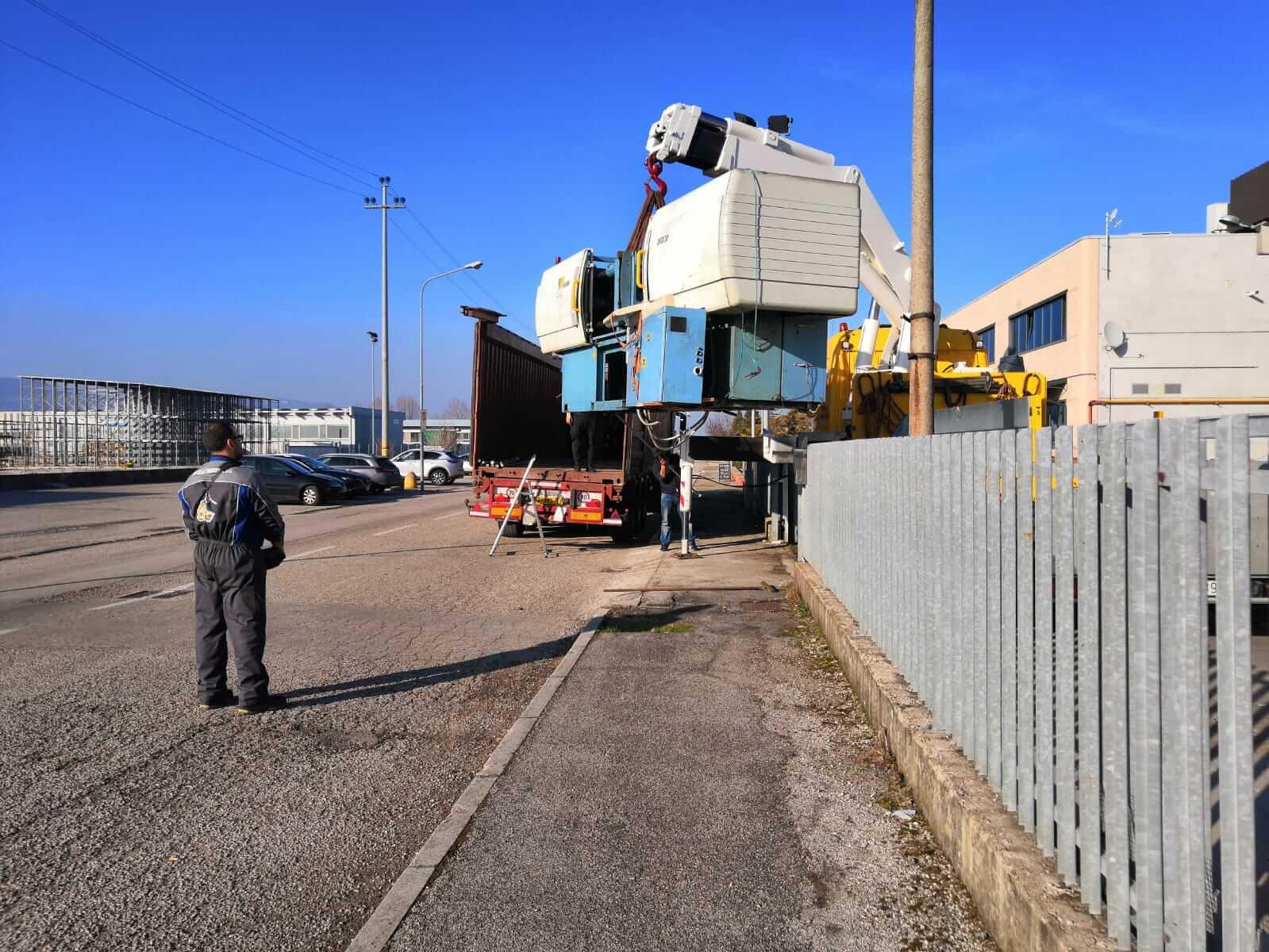 Fissaggio carico container